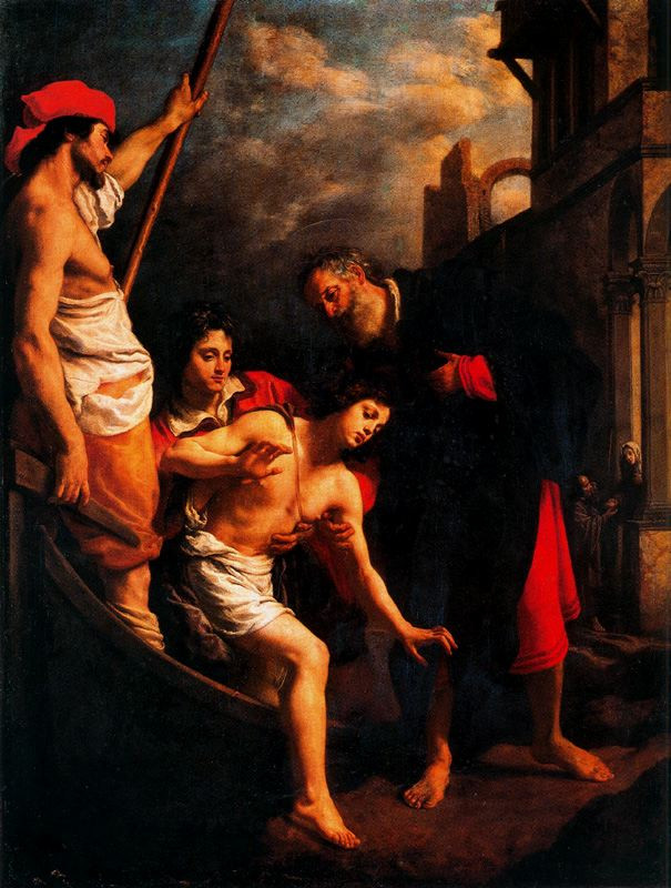 Saint Julian Offers Hospitality to the Pilgrims